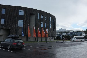 Hof, the cultural house in Akureyri. The tourist information center is also located here.