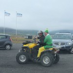 Icelanders have strange traditions, this elf was taking part in his bachelor party.