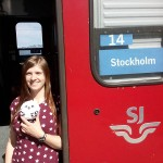 Linnea and Owlette board the train bound for Stockholm!