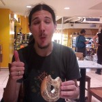 Lyonel enjoys his first bagel ever in New York Penn Station and gives it a thumbs up!