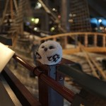 Owlette was amazed at the size of the ship Vasa.