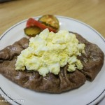 This Karelian pastie was big enough to be a full meal on its own!